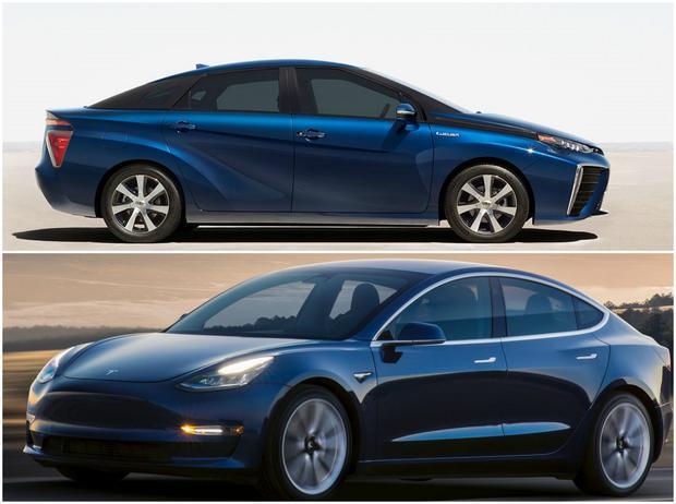 Tesla 3 kontra Toyota Mirai