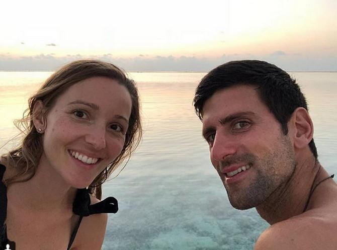 Jelena i Novak Đoković na Maldivima