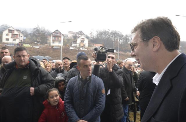 Vučić sa građanima Raške