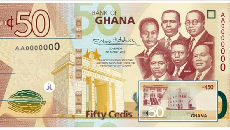 See the upgraded cedi notes, signed by BoG Governor Dr. Addison