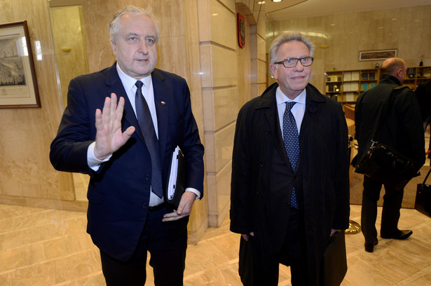 Gianni Buquicchio i Andrzej Rzepliński na spotkaniu w TK