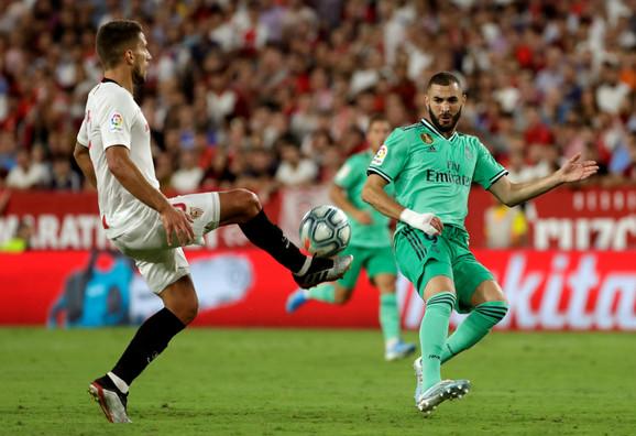 Karim Benzema na  utakmici protiv Sevilje