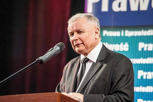 Jarosław Kaczyński na spotkaniu z mieszkańcami Środy Wielkopolskiej