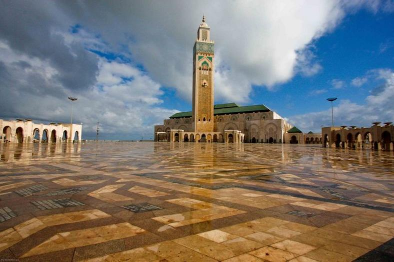 Hassan II Mosque grounds