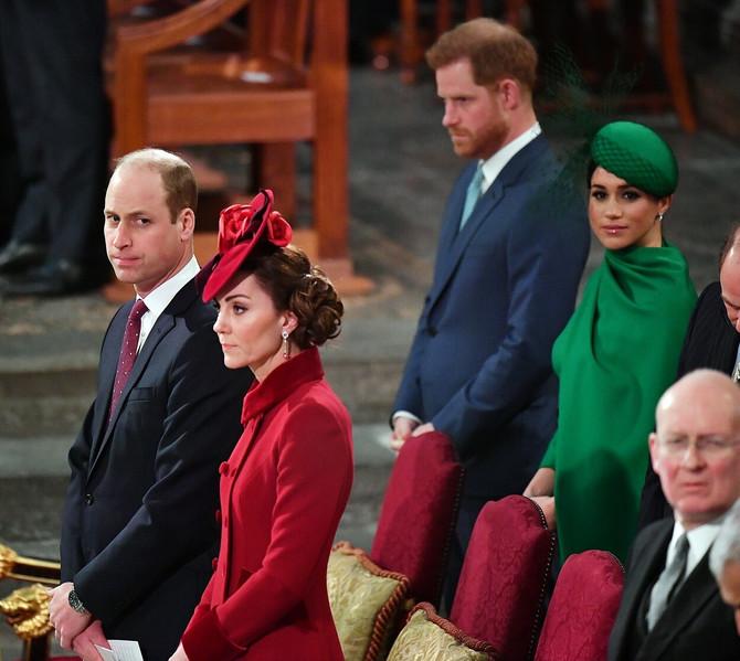 Megan Markl i Kejt Midlton na obeležavanju Dana Komonvelta u martu ove godine u Londonu: bila je to njihova poslednja dužnost kao viših članova kraljevske porodice