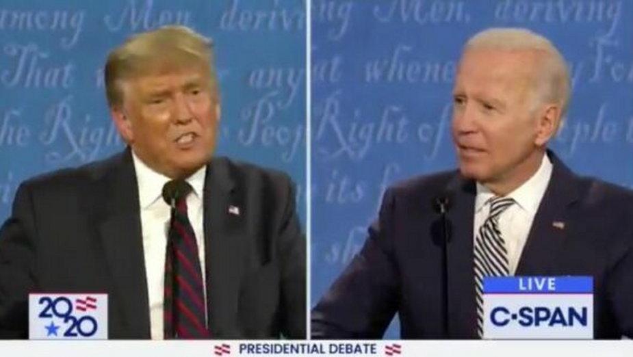 Debata prezydencka w USA. Źródło: Twitter