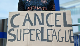 English supporters were up in arms over the Super League Creator: JUSTIN TALLIS
