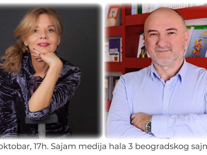 Novinarka Mirjana Bobić Mojsilović i psihoterapeut Zoran Milivojević