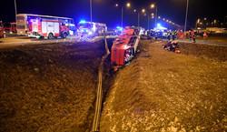 Tragiczny wypadek autokaru na A4. Są ofiary i wielu rannych