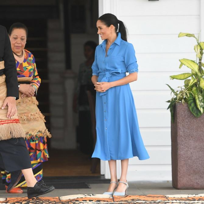 Megan u poseti Tongi oktobra 2018.