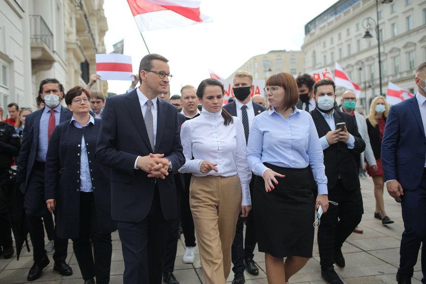 Swiatłana Cichanouska w Polsce