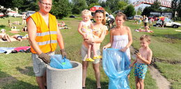 Wspólnie z plażowiczami sprzątamy kąpieliska