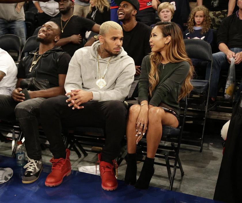 Chris Brown z dziewczyną w 2014 roku