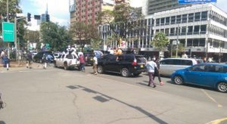 Rowdy youth pelts stones at Orengo's convoy
