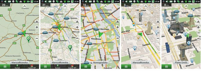 Gdzie występują korki po drodze? Podgląd mapy z widoczną wizualizacją natężenia ruchu.