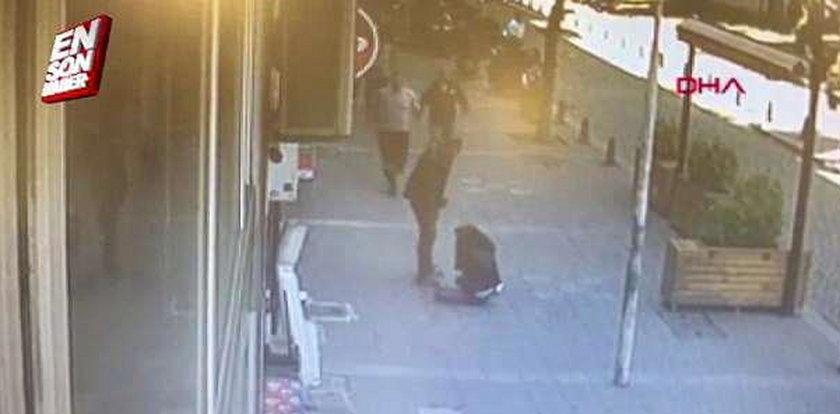 Tłukł byłą żonę na ulicy. Nagle zjawił się bohater