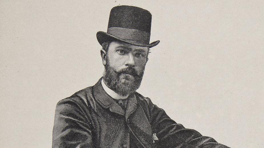 """Aleksander Gierymski w Rzymie. Grafika pojawiła się w """"Kłosach"""" (1887/8 T. XLVI Nr. 1175 s. 5)"""