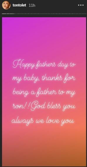Tonto Dikeh has a message for deadbeat dads on Fathers day [Instagram/TontoDikeh]