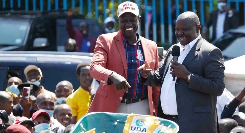 Deputy President William Ruto, Isaac Ruto and BUZEKI