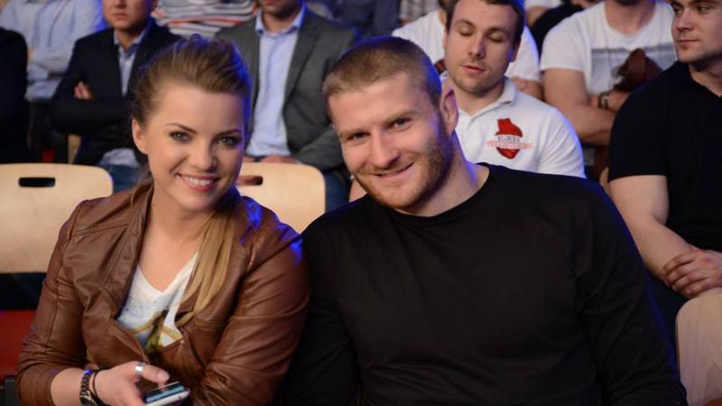 Jan Błachowicz z partnerką Dorotą