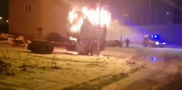 Był w płonącej ciężarówce. Akcja kieleckiej policji