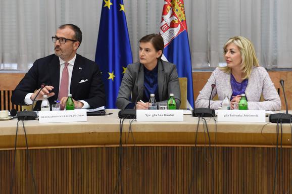 Sem Fabrici, Ana Brnabić i Jadranka Joksimović