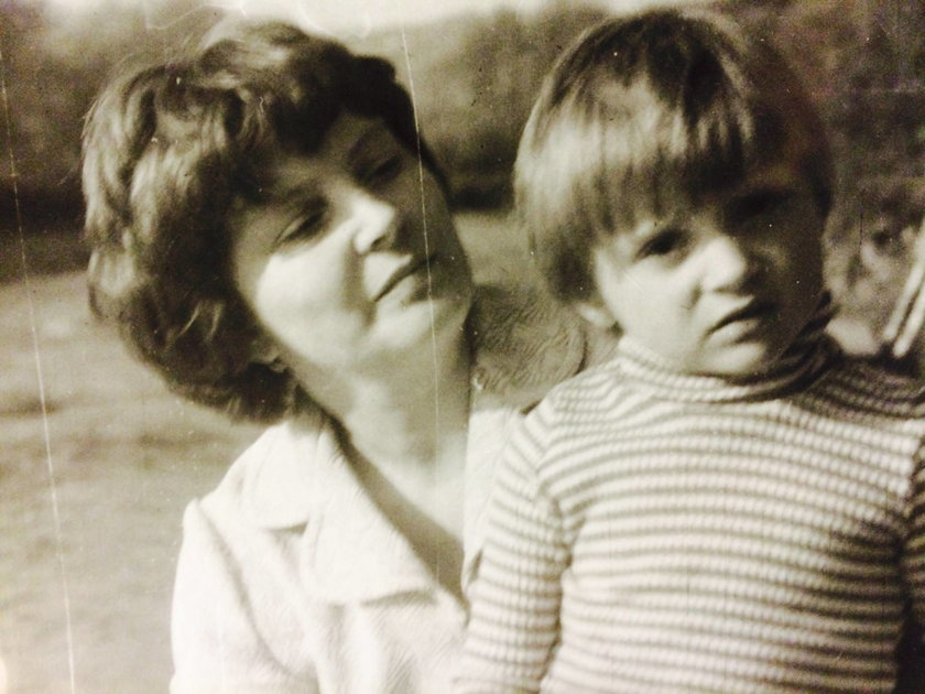 Halina Mlynkova z mamą