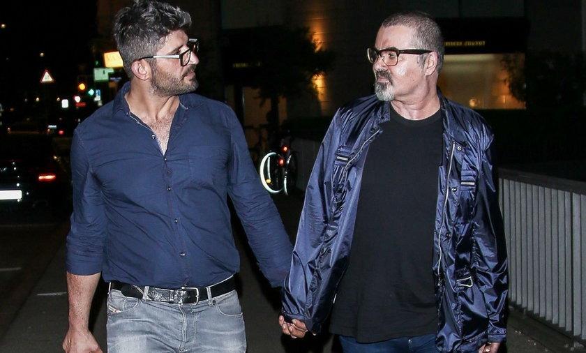 George Michael i jego partner Fadi Fawaz