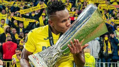 Photo Story: Samuel Chukwueze celebrates with the Europa League trophy