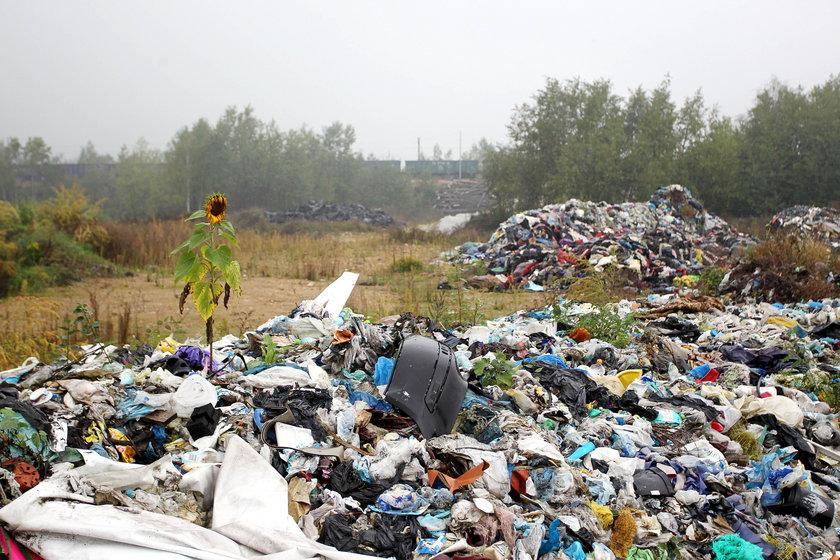 Nielegalne składowisko odpadów w Sławkowie