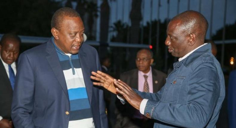 DP William Ruto reacts to reports that President Uhuru Kenyatta ordered photos of himself with Nandi Governor Stephen Sang deleted