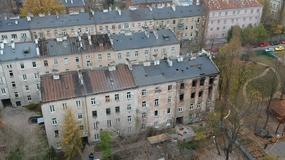 Kamienica w Warszawie dzień po wybuchu