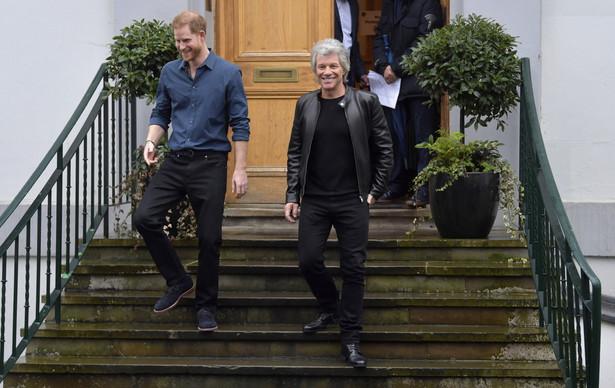 Książę Harry i Jon Bon Jovi w Abbey Road Studios