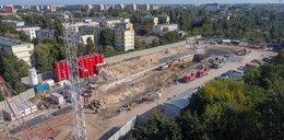 Co się dzieje na największej budowie w Łodzi? Tak powstaje wielka dziura