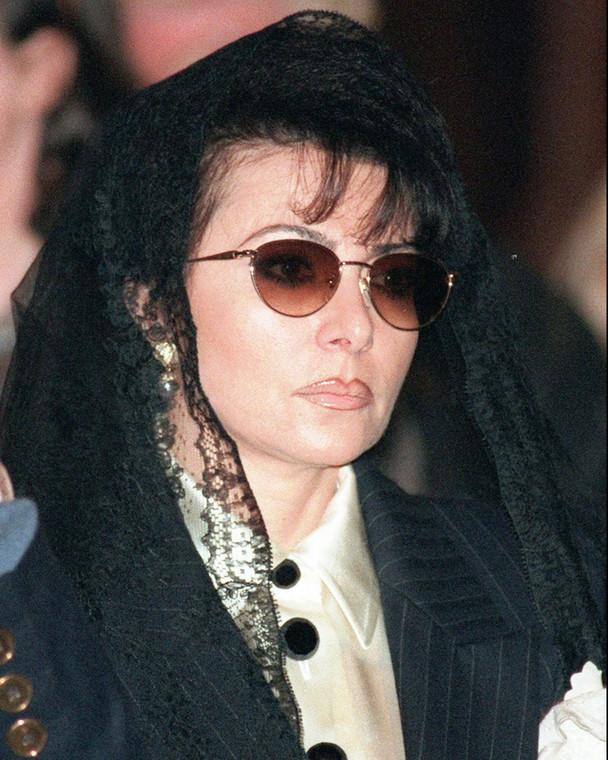 Patrizia Reggiani at the funeral of her ex-husband, Maurizio Gucci