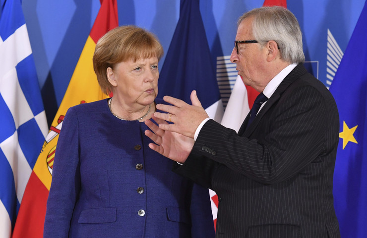Angela Merkel, Žan Klod Junker