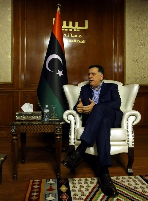 Fayez al-Sarraj was interviewed by AFP in Libya's capital Tripoli in November, 2018