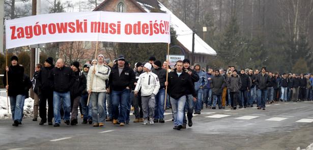 Blokada drogi przez górników z JSW