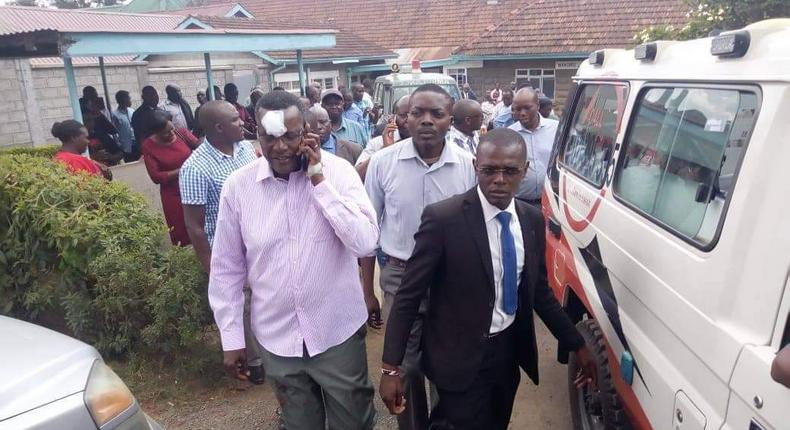 Chief Justice David Maraga speaks after accident