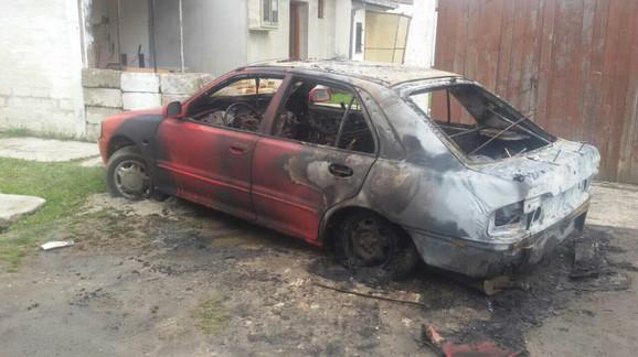 Ilićev automobil je u potpusosti izgoreo