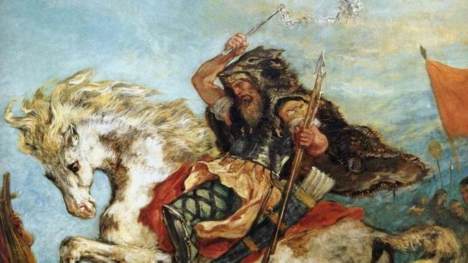 Attyla Hun (aut. Eugène Delacroix, między 1843 a 1847, domena publiczna)