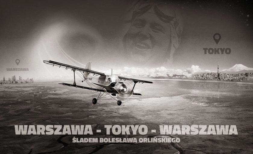 Lot Warszawa-Tokio-Warszawa ku pamięci Bolesława Orlińskiego