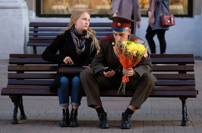 Sramežljivi vojnik na Crvenom trgu