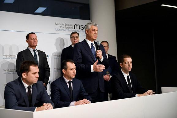 Tači, Grenel i Vučić u Minhenu