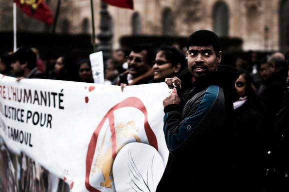Protest Tamilskih tigrova zbog vlade Šri Lanke u Londonu 2011.