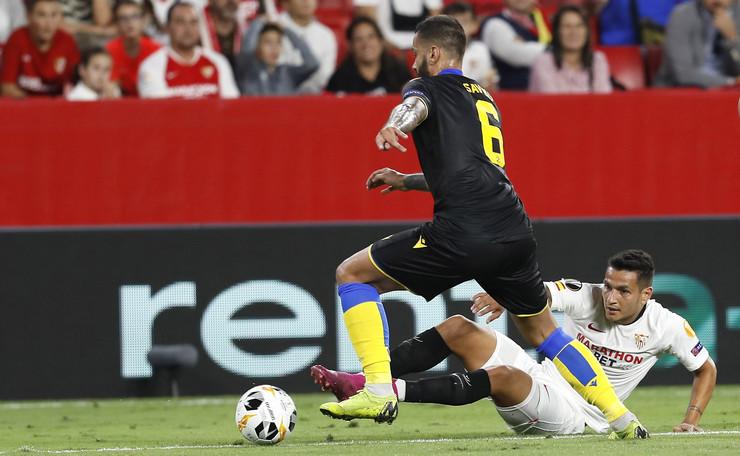 Detalj sa utakmice Sevilje i Apoela