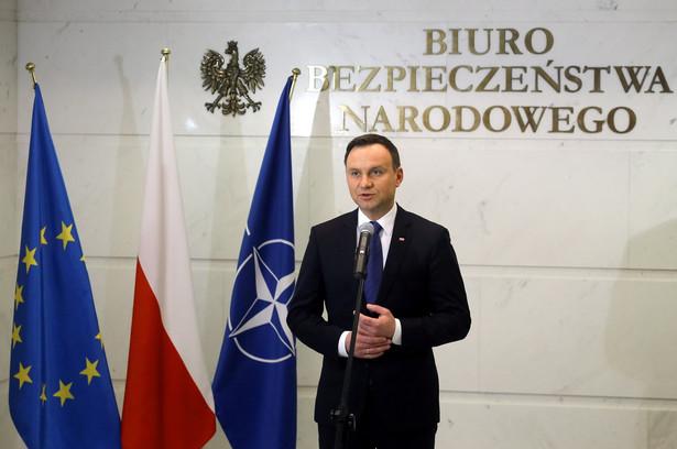 Duda chce większej obecności amerykańskich żołnierzy w Polsce