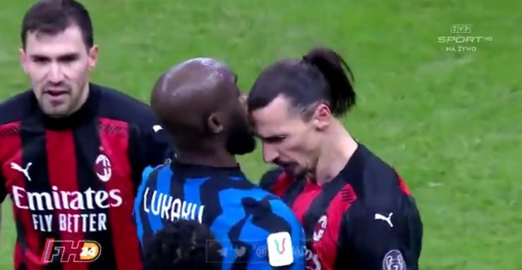Ibrahimović udara glavom Lukakua