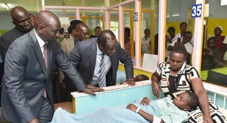 DP William Ruto visits pupils of Kakamega Primary in hospital