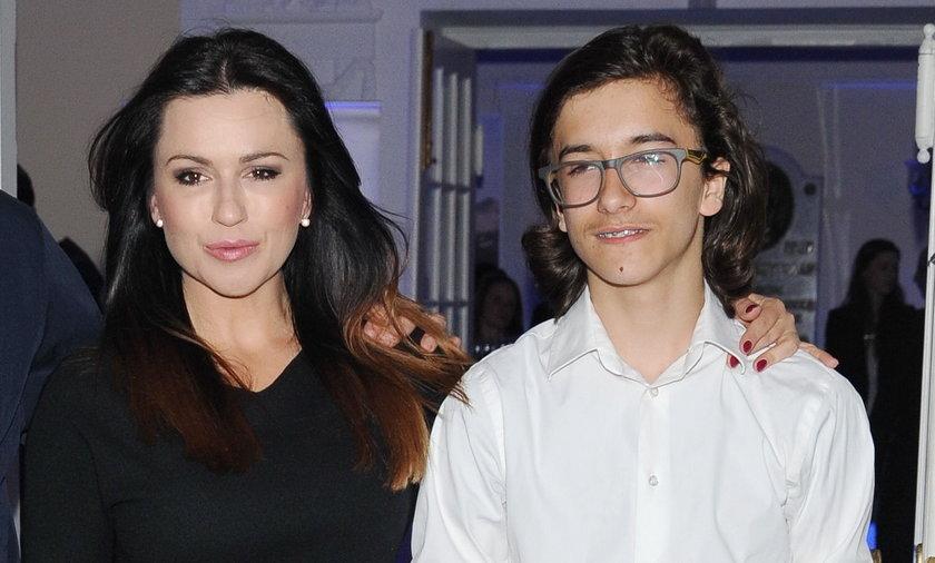 Beata Tadla z synem Jankiem